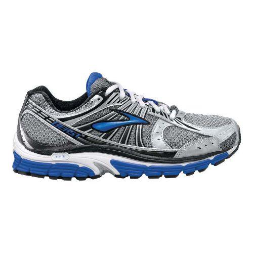 Mens Brooks Beast 12 Running Shoe - White/Blue 9.5