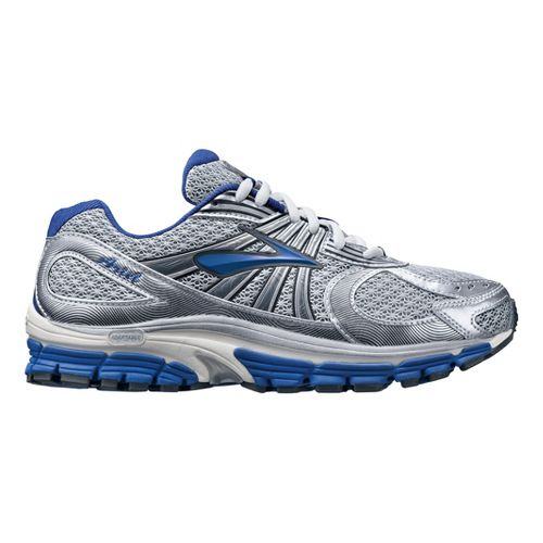Womens Brooks Ariel 12 Running Shoe - Silver/Blue 8.5