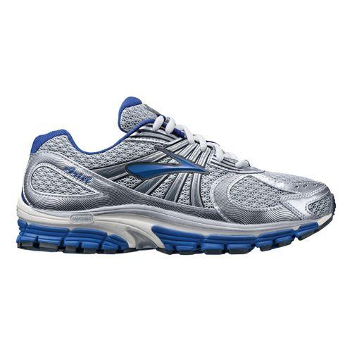 Womens Brooks Ariel 12 Running Shoe - Silver/Blue 8.5