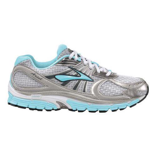 Womens Brooks Ariel 12 Running Shoe - Silver/Light Blue 8.5