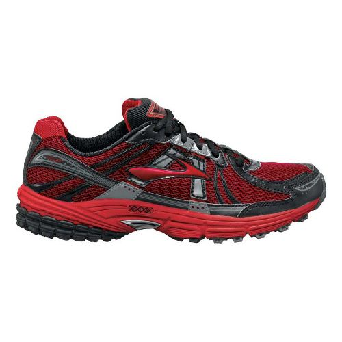 Mens Brooks Adrenaline ASR 9 Trail Running Shoe - Red/Charcoal 8.5