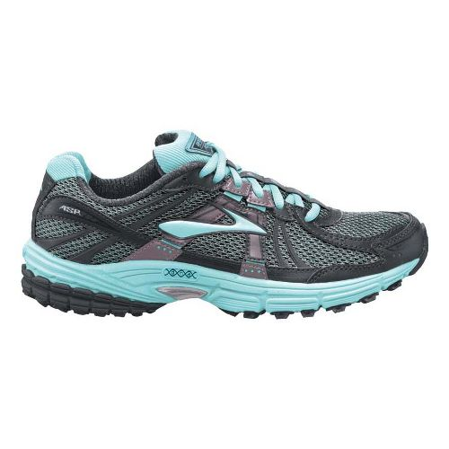 Womens Brooks Adrenaline ASR 9 Trail Running Shoe - Light Blue/Charcoal 11.5