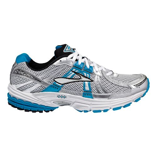 Womens Brooks Defyance 6 Running Shoe - Silver/Blue 10.5