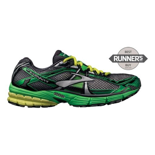 Mens Brooks Ravenna 4 Running Shoe - Green/Neon 11