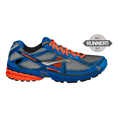 Mens Brooks Ravenna 4 Running Shoe - White/Olympia Blue 12.5