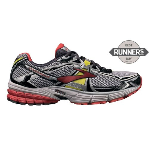Mens Brooks Ravenna 4 Running Shoe - White/Red 9