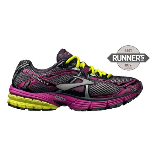 Womens Brooks Ravenna 4 Running Shoe - Purple/Neon 6