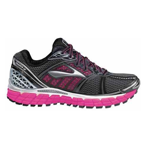Womens Brooks Trance 12 Running Shoe - Charcoal/Pink 8.5