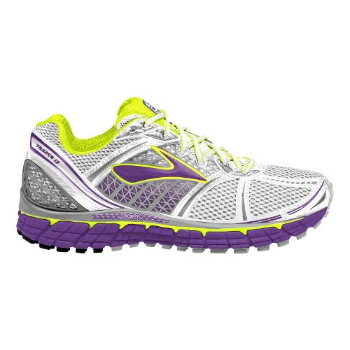 Womens Brooks Trance 12 Running Shoe - White/Purple 8