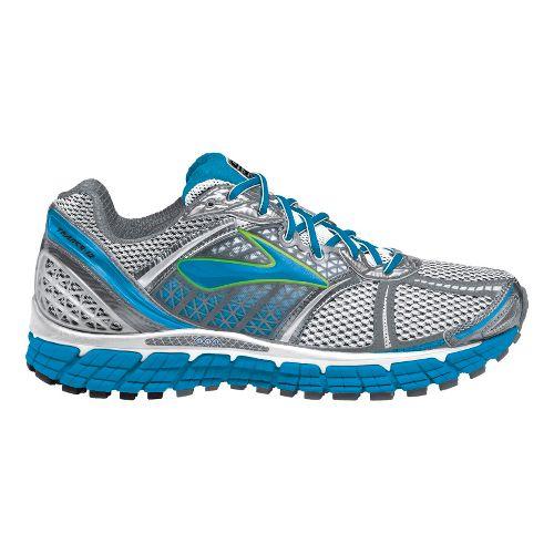 Womens Brooks Trance 12 Running Shoe - White/Silver 10.5