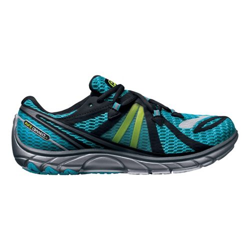 Womens Brooks PureConnect 2 Running Shoe - Teal/Black 11.5