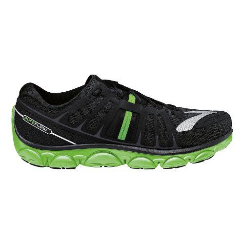 Mens Brooks PureFlow 2 Running Shoe - Black/Lime 10