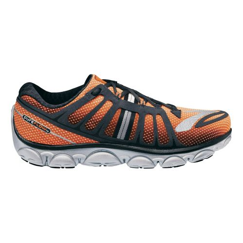 Mens Brooks PureFlow 2 Running Shoe - Shocking Orange/Anthracite 7.5