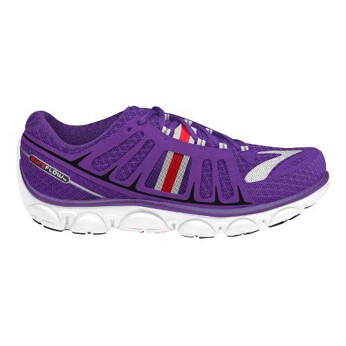 Womens Brooks PureFlow 2 Running Shoe - Royal Purple/Hibiscus 10.5