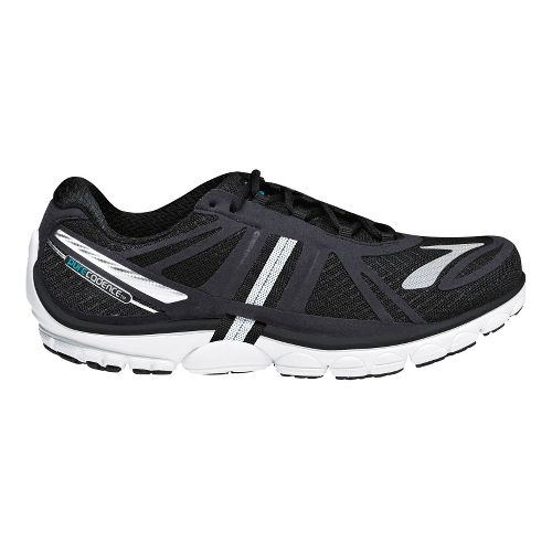 Womens Brooks PureCadence 2 Running Shoe - Black/Silver 10.5