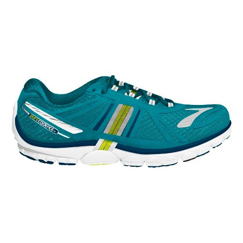 Womens Brooks PureCadence 2 Running Shoe - Tile Blue/Lime Punch 11.5