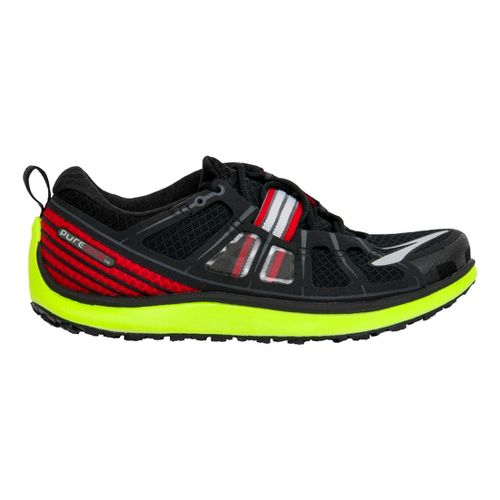 Mens Brooks PureGrit 2 Trail Running Shoe - Black/Neon 7.5