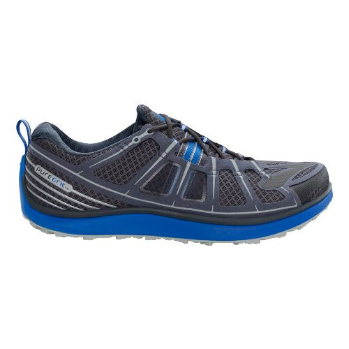 Mens Brooks PureGrit 2 Trail Running Shoe - Charcoal/Blue 10.5
