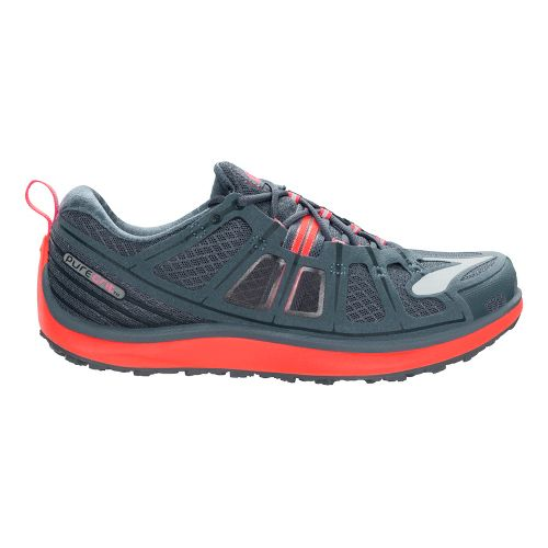 Womens Brooks PureGrit 2 Trail Running Shoe - Slate/Coral 10.5