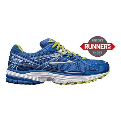 Mens Brooks Adrenaline GTS 13 Running Shoe - Blue/Lime 10.5