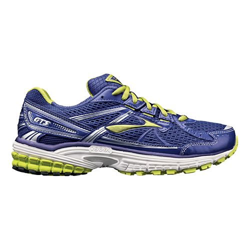 Womens Brooks Adrenaline GTS 13 Running Shoe - Navy/Lime 11.5