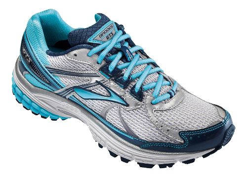 Womens Brooks Adrenaline GTS 13 Running Shoe - Silver/Blue 6
