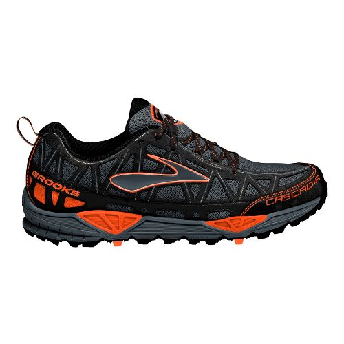Mens Brooks Cascadia 8 Trail Running Shoe - Black/Orange 7