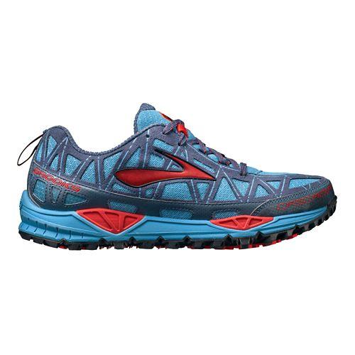 Womens Brooks Cascadia 8 Trail Running Shoe - Blue/Pink 6