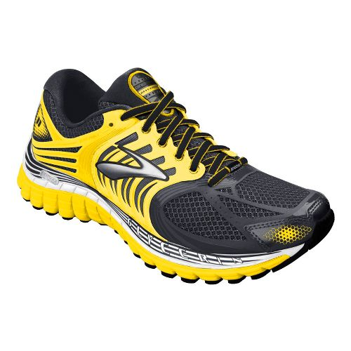 Mens Brooks Glycerin 11 Running Shoe - Anthracite/Vibrant Yellow 12.5