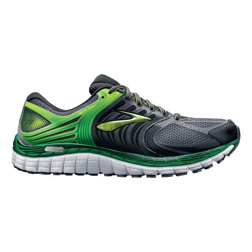 Mens Brooks Glycerin 11 Running Shoe - Charcoal/Green 7.5