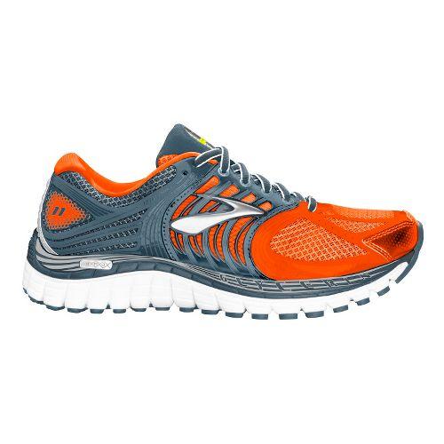 Mens Brooks Glycerin 11 Running Shoe - Orange/Silver 9