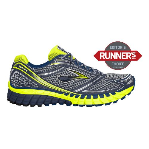 Mens Brooks Ghost 6 Running Shoe - Charcoal/Navy 9