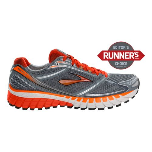 Mens Brooks Ghost 6 Running Shoe - Pavement/Silver 11.5