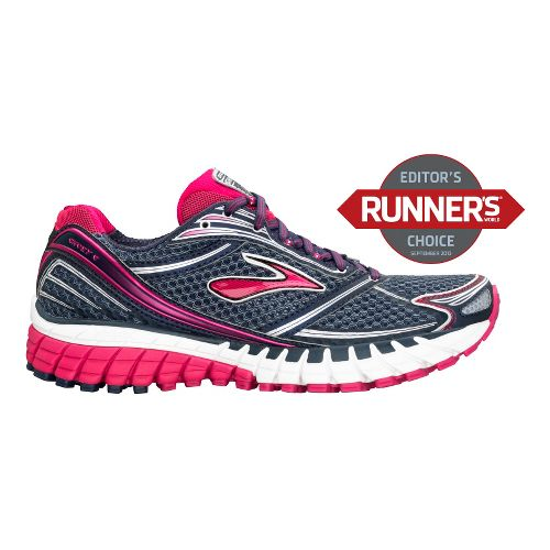 Womens Brooks Ghost 6 Running Shoe - Charcoal/Pink 6.5