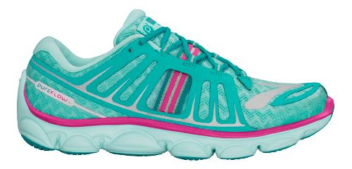 Kids Brooks PureFlow 2 Running Shoe - Aqua/Pink 1.5Y