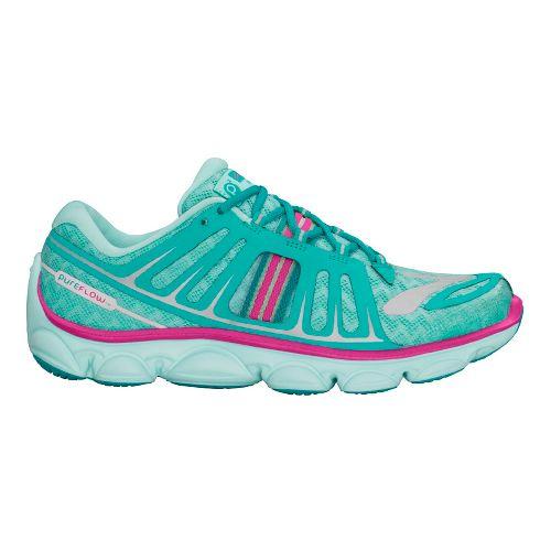 Kids Brooks PureFlow 2 Running Shoe - Aqua/Pink 6.5Y