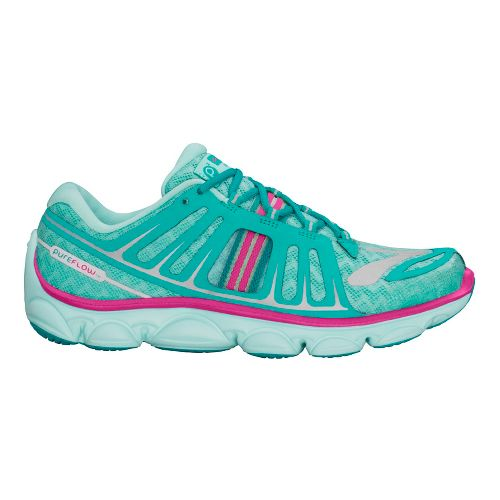 Kids Brooks PureFlow 2 Running Shoe - Aqua/Pink 6Y