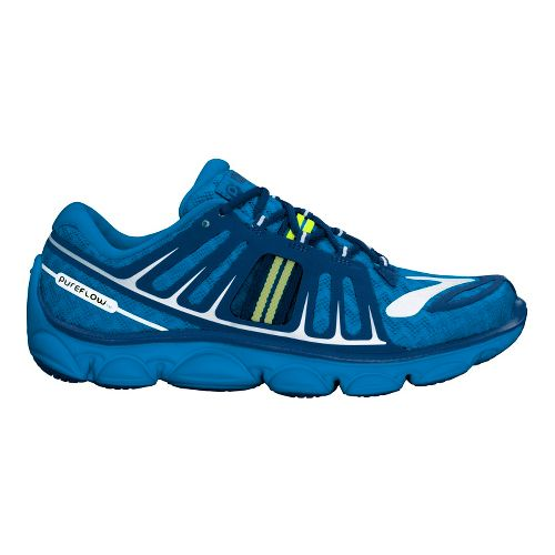 Kids Brooks PureFlow 2 Running Shoe - Brilliant Blue/Limoges 11.5