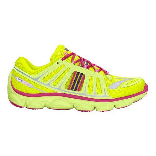 Kids Brooks PureFlow 2 Running Shoe - Citrus/Nightlife 4.5