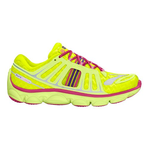 Kids Brooks PureFlow 2 Running Shoe - Citrus/Nightlife 6.5