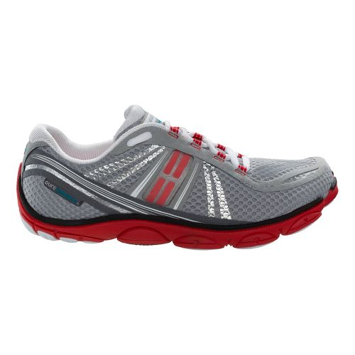 Mens Brooks PureConnect 3 Running Shoe - River Rock/High Risk Red 7.5