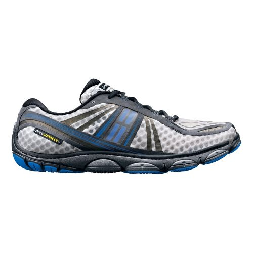 Mens Brooks PureConnect 3 Running Shoe - White/Blue 10.5