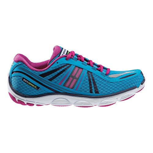 Womens Brooks PureConnect 3 Running Shoe - Blue/Pink 6.5