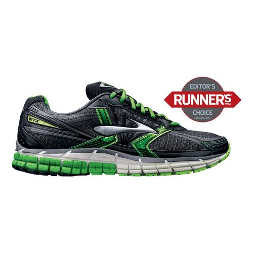 Mens Brooks Adrenaline GTS 14 Running Shoe - Black/Green 7.5