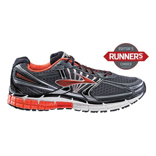 Mens Brooks Adrenaline GTS 14 Running Shoe - Charcoal/Orange 10.5