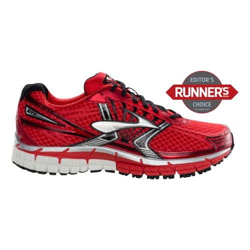 Mens Brooks Adrenaline GTS 14 Running Shoe - Red 11.5