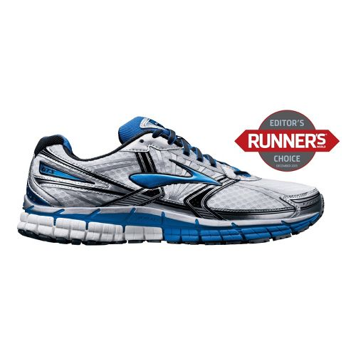 Mens Brooks Adrenaline GTS 14 Running Shoe - White/Blue 7.5