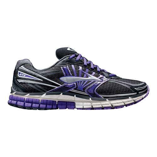 Womens Brooks Adrenaline GTS 14 Running Shoe - Black/Purple 6.5