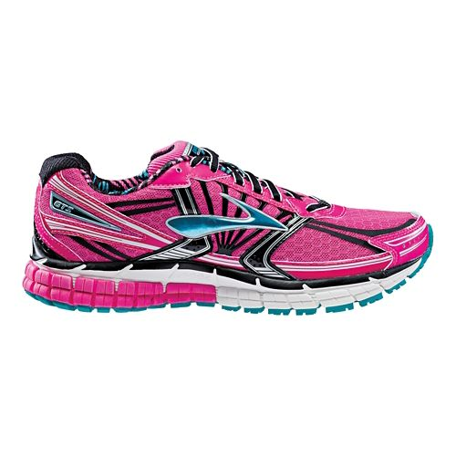 Womens Brooks Adrenaline GTS 14 Running Shoe - Hot Pink 11.5