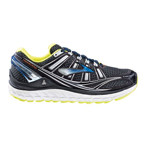 Mens Brooks Transcend Running Shoe - Black 12.5